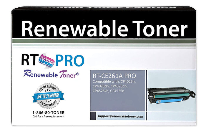 RT PRO Compatible HP CE261A 648A Toner Cartridge (Cyan)