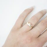 Paper Boat Ring - Gold