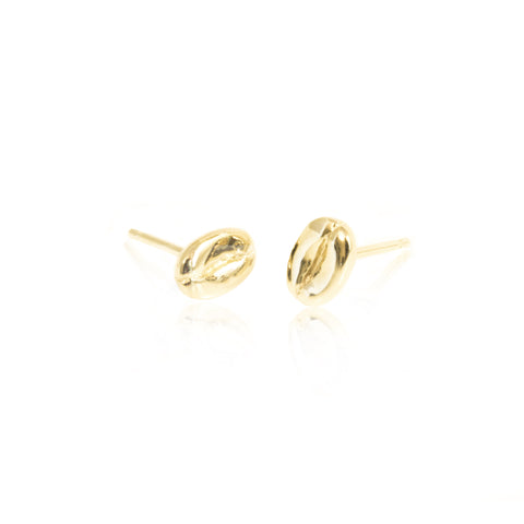 Coffee Bean Earrings - Gold