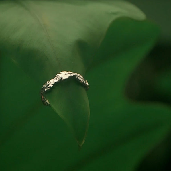 Jungle Leaf Ring - Silver
