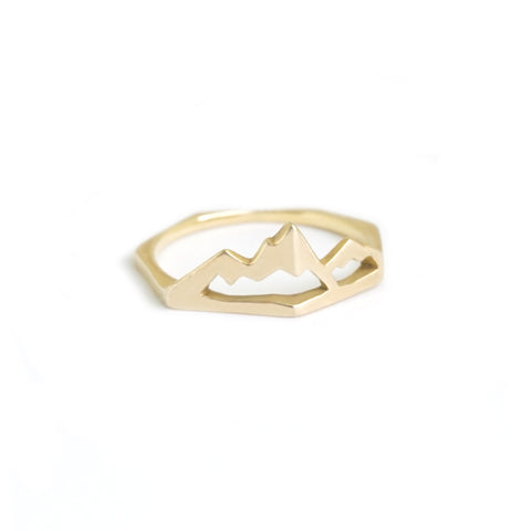 Mountain State of Mind Ring - Gold