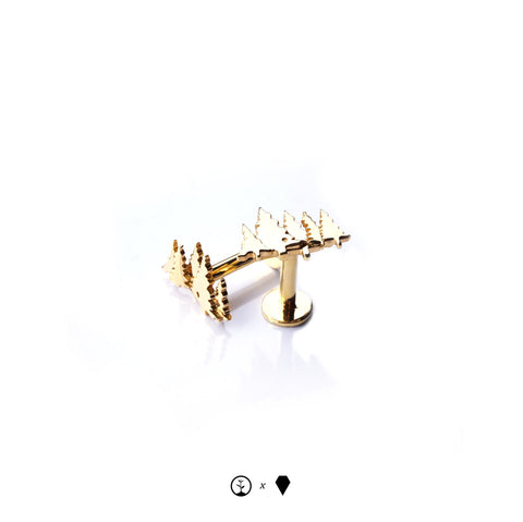 Lost Forests Cufflinks - Gold