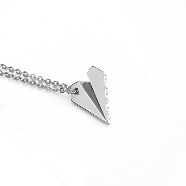 Skybound Paper Plane Necklace