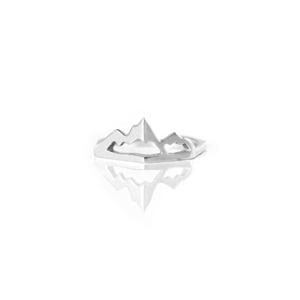 Mountain State of Mind Ring - Silver