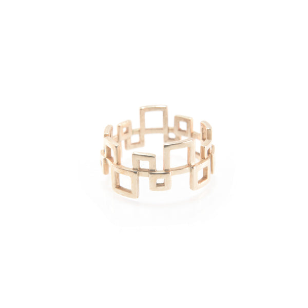 Squared Ring - Gold