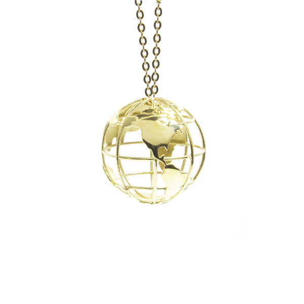 Mini Wanderlust World Necklace