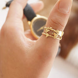 World Map Ring - 14k Gold