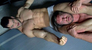 Vinny Dakota headscissors submission hold submit abs chest pecs