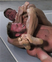 Johnny Bravo Bear headscissors submission submit feet pain torture wrestling