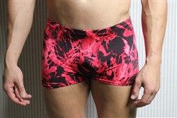 Red and Black Marble Trunks - Size Small