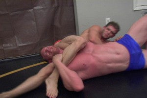 Angel head lock Devin legs nice abs pecs