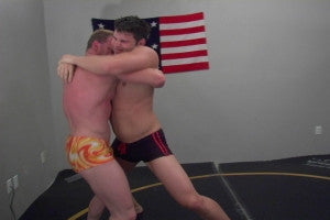 Rome and Devin bearhug grapple legs abs thighs