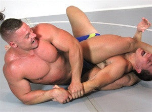 Atom muscles bodyscissors submission hold submit torture chest pecs thighs