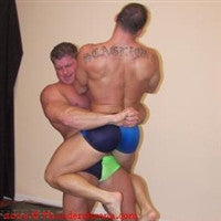 Johnny Bravo Joey Meatball lift and carry bearhug submission hold submit big vs little