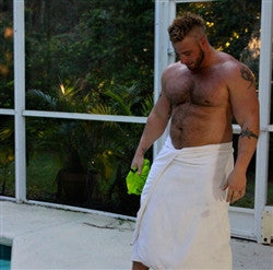 Bear Atom towel abs pecs chest