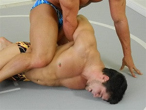 sledge bambam bodyscissors arm submission hold chickenwing submit