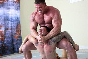 johnny bravo camel clutch submission chest pecs torture big vs little dominate
