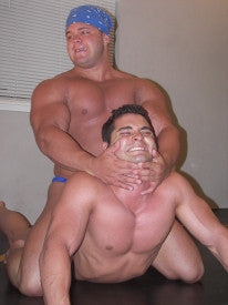 Bomb Batar head lock pecs chest arms