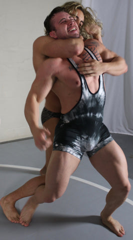 wrestler in a choke hold