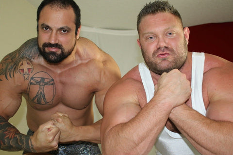 The Mountain and the Destroyer flex off at Thunders Arena Wrestling.