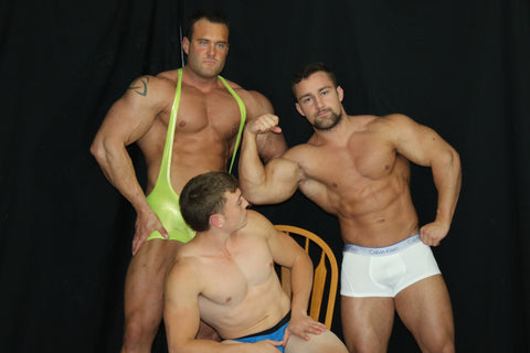 Muscle Worship featuring Dolf, Scrappy, and Mark Muscle.