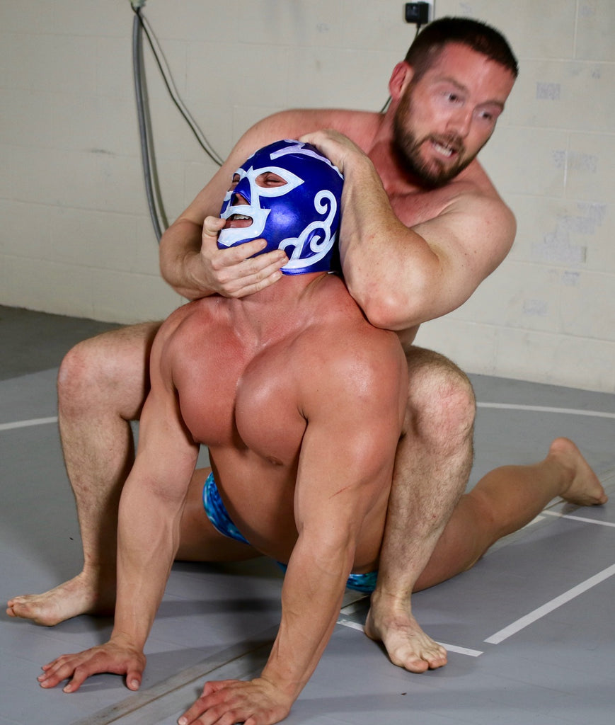 body builder in a choke hold