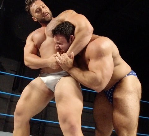 Stallion putting Gino in a side headlock