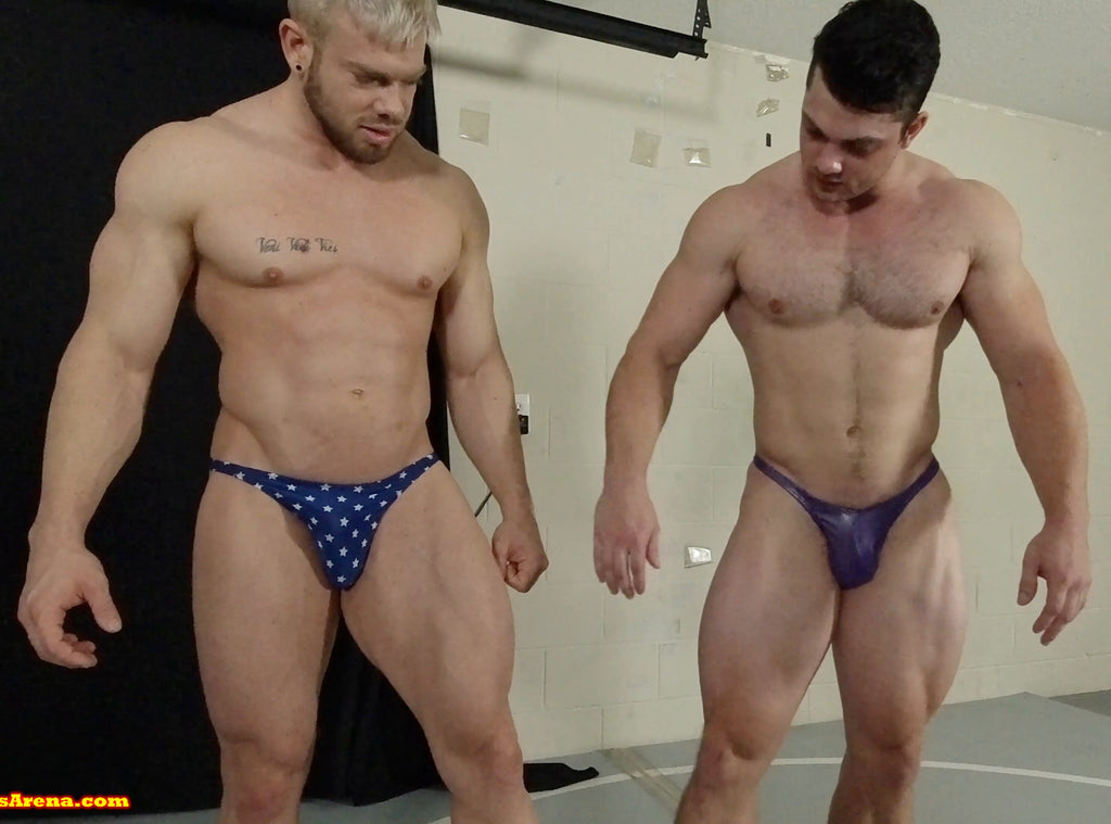 Duke and Simpson comparing thighs