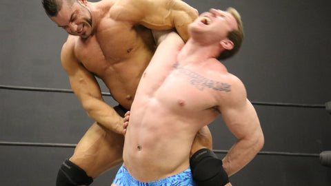 Brian Cage abdominal stretch on Talon pecs bicep