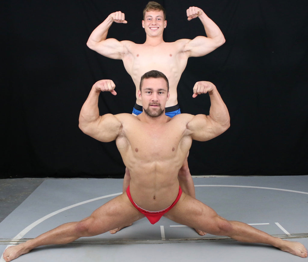 double bicept flex bodybuilders
