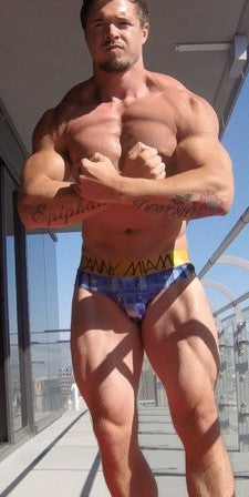 Sparrow sly vegas flex pose chest pecs abs muscle