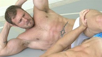austin wolf hooper bodyscissors submission hold submit abs chest pecs arms