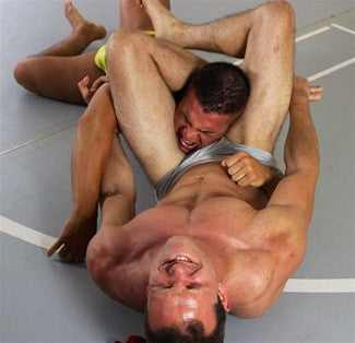 braden charron ken headscissors submission hold pain torture abs chest pecs