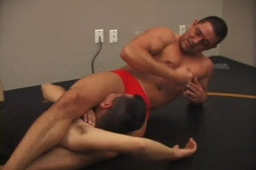 Ajax head scissors Spike arm lock big bicep arms pecs