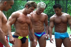 Scarface Zman Ace and Iceman great abs bodybuilders big pecs arms biceps