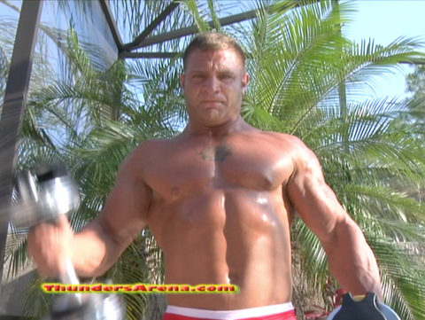Diesel flex pose chest pecs abs arms bodybuilder