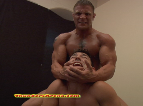 Ajax diesel chest pecs muscle camel clutch submission hold submit