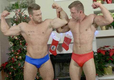 Duke aka Ryan Sparks and Clark flex their big, strong muscles on Thunders Arena.