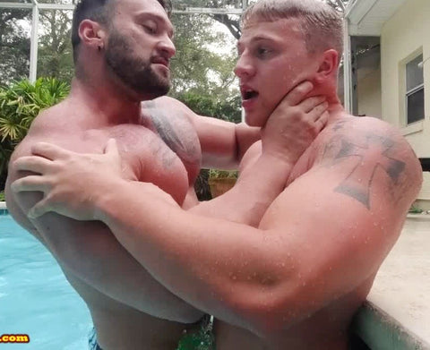 Choke Hold in pool