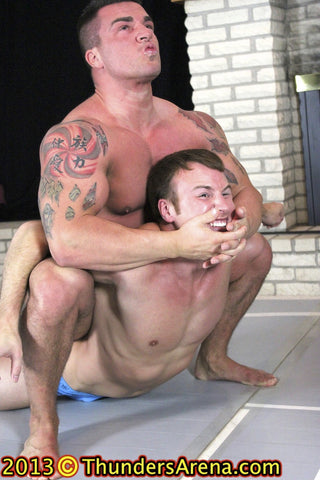 Frey Braden Charron camel clutch submission hold submit chest pecs arms