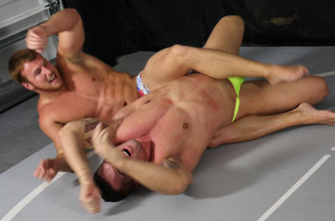 Frey Braden Charron flex muscle worship bodyscissors submission