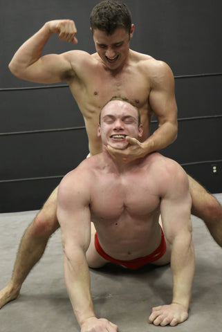 Bolt camel clutch bicep flex arms Travis