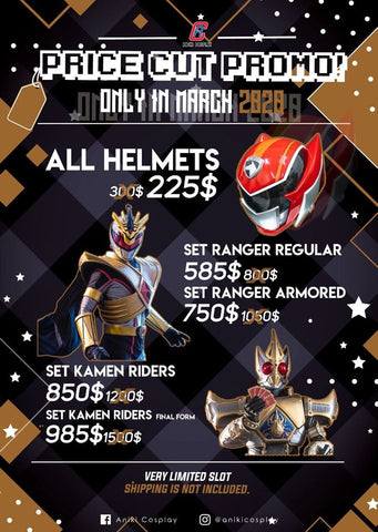 COSTUME SET SALE 2020 ARMORED RANGERS NO HELMET