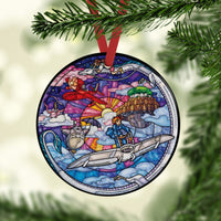 Ghibli Stained Glass Custom Ceramic Ornament