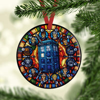 Doctor Who Stained Glass Custom Ceramic Ornament