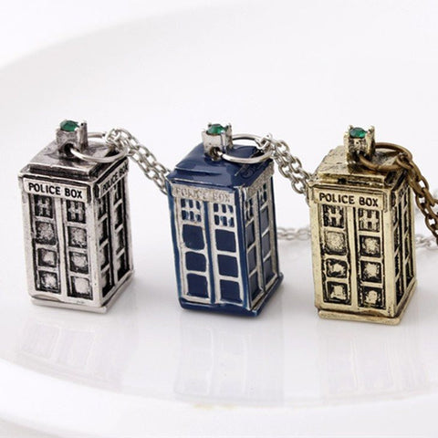 Tardis Pendant Necklace 60%OFF TODAY