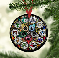 MTG Stained Glass Custom Ceramic Circle Ornament