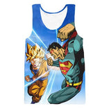 Goku VS Superman Tank Top