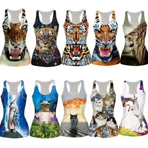 Animal Print Tank Top for Women