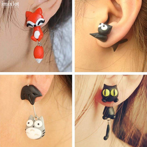 Double-Sided Animal Earrings